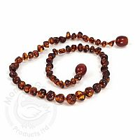 Baby Amber Necklace, Medium - Cherry Baroque