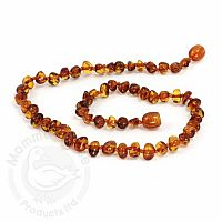 Baby Amber Necklace, Medium - Cognac Baroque