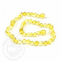 Baby Amber Necklace, Small - Lemon Baroque