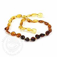 Baby Amber Necklace, Medium - Rainbow Olive