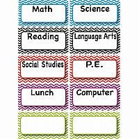 Classroom Subjects Magnets