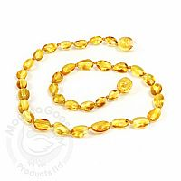 Adult Amber Necklace - Lemon Olive
