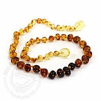 Baby Amber Necklace, Medium - Rainbow Baroque