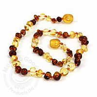 Baby Amber Necklace, Small - Lemon Cognac, Baroque