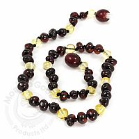 Baby Amber Necklace, Medium - Lemon, Cherry Baroque