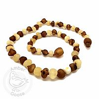 Baby Amber Necklace, Small - Milky Cognac