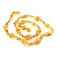 Baby Amber Necklace, Small - Honey, Hen & Chicks