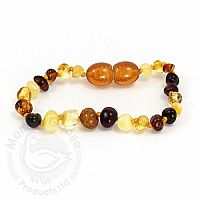 Adult Amber Bracelet - Multi Baroque