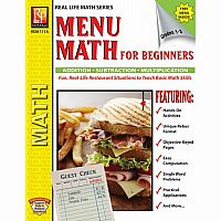 Menu Math for Beginners