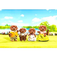 Chocolate Lab Family-Calico Critters