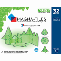 Glow Magna-Tiles - 32 Pieces