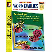 Word Families - Book 3