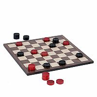 Red & Black Wooden Checkers