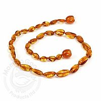 Baby Amber Necklace, Medium - Cognac Olive