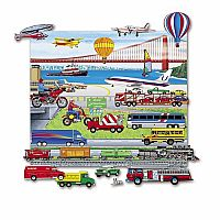 Trucks, Trains and Planes - Felt Set with Playboard