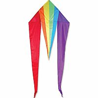 "Rainbow 45"" Flo-Tail Delta Kite"