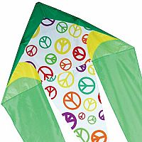 "Lime Peace - 45"" Flo-Tail Delta Kite"