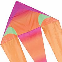 "Pink Gradient - 45"" Flo-Tail Delta Kite"
