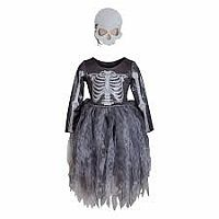 Skeleton Witch Dress with Mask - size 3-4