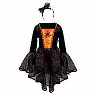 Sybil the Spider Witch Dress & Headband - size 3-4