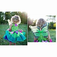 Deluxe Fairy Wings with Dress - Green, SM