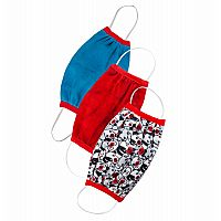 3 Pack - Puppy, Ruby, Blue - Protective Face Mask
