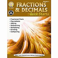 Fractions and Decimals Quick Starts Gr 4 - 8+