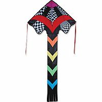 Rainbow Op-Art Large Easy Flyer Kite