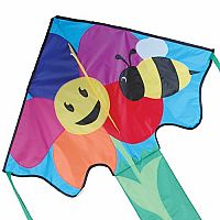 Bee and Flower - Large Easy Flyer Kite