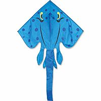 Blue Stingray Jumbo Kite