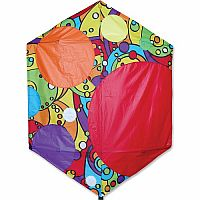 "56"" Rainbow Bubbles Rokkaku Kite"