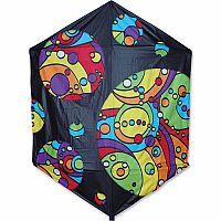 "56"" Black Rainbow Rokkaku Kite"