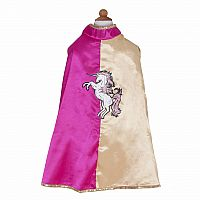 Pink and Gold Action Unicorn Cape