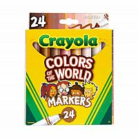 Colours of the World Markers 24 Pack