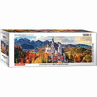 Neuschwanstein Castle in Autumn - 1000 Piece Puzzle