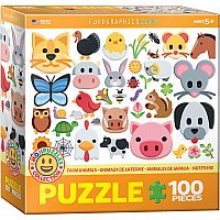 Emojis: Farm Animals - 100pc. Puzzle