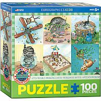 Kitten Trouble - 100pc. Puzzle