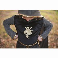Gold Knight Set (Hooded Tunic, Cape & Crown)