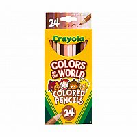 Colours of the World Coloured Pencils 24 Pack