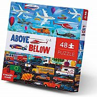Above + Below: Things that Go - 48 Piece Floor Puzzle