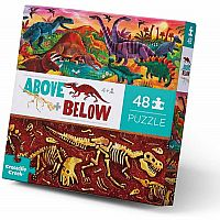 Above + Below: Dinosaur World - 48 Piece Floor Puzzle