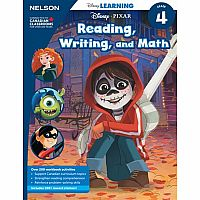 Disney Learning Reading, Writing, and Math Grade 4 Workbook