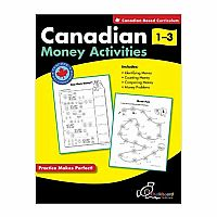 Canadian Money Activities Grades 1-3