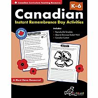 Canadian Instant Remembrance Day Activities Gr. K-6