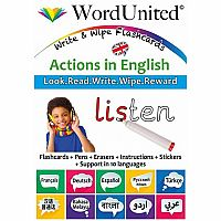 Actions in English - Write & Wipe Flashcards