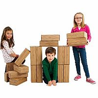 Bric-Bloc Cardboard Blocks - Wood-look
