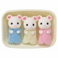 Marshmallow Mouse Triplets-Calico Critters