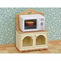 Microwave Cabinet-Calico Critters