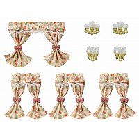 Wall Lamps & Curtains-Calico Critters