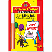 Invisible Ink with Stickers: Curious George